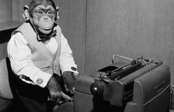 monkey and typewriter
